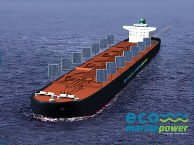 Eco Tanker Conept with Sails & Solar