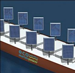 Impression of EnergySail Array on Aquarius Eco Ship