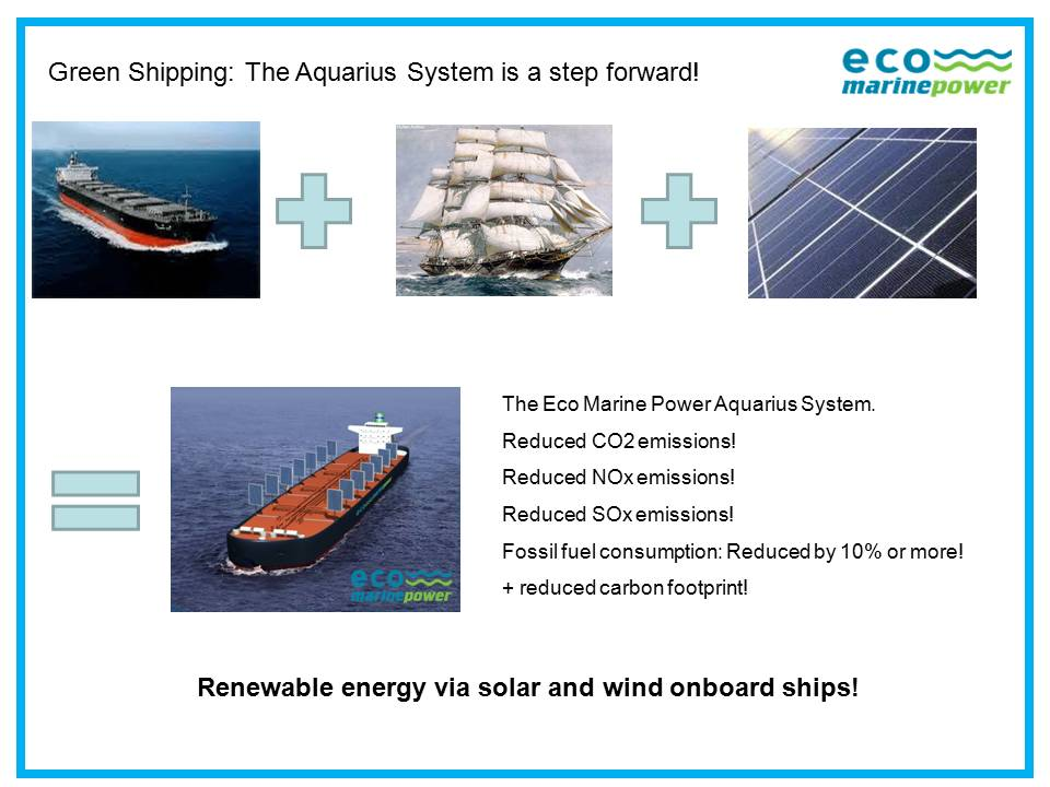 Green Shipping with Wind & Solar Power | Eco Marine Power