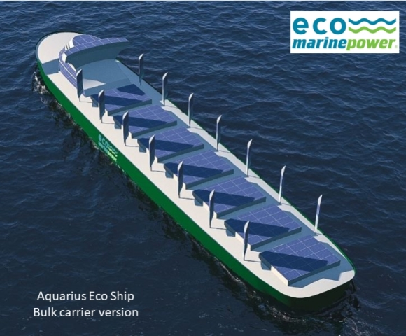 Aquarius solar and wind power ship