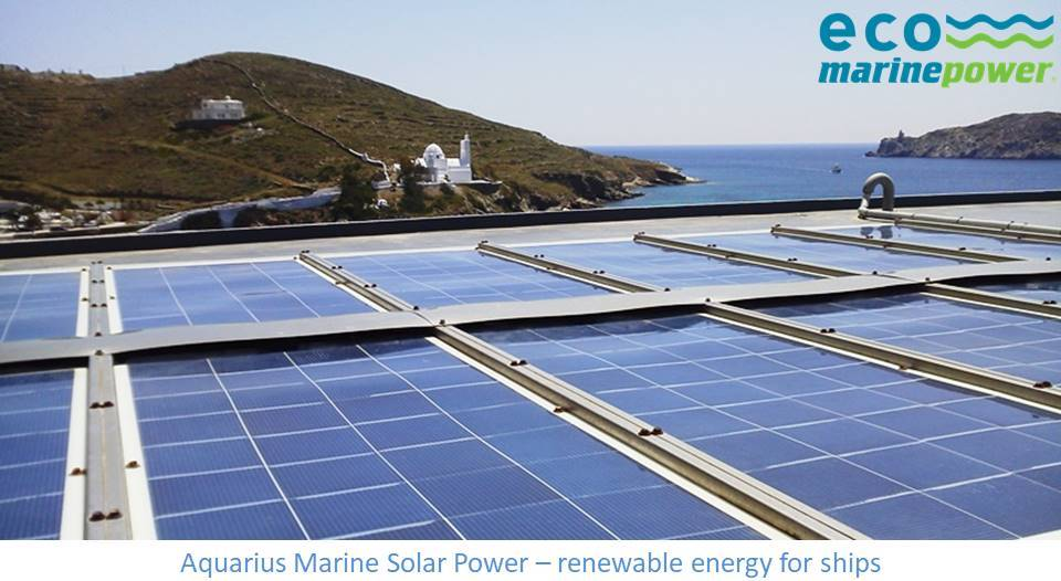 Ship solar power by Eco Marine Power