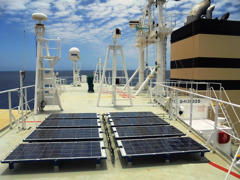 Eco Marine Power solar power array on MV Panamana