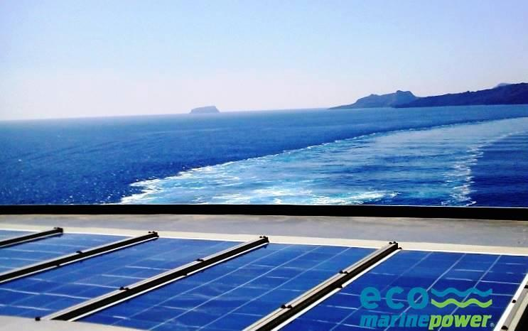 Ship solar panel array