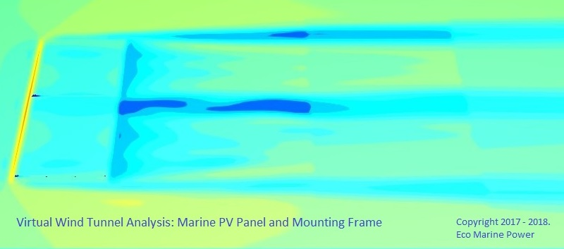 CFD analysis of ship PV module kit