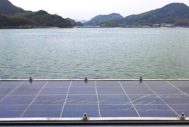 Marine grade solar panel and frame in Onomichi
